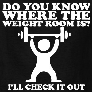 Do you know where the weight room is? Tommy Boy Kids' Shirts - Kids' T-Shirt