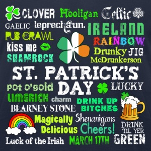 St Pattys Phrases T-Shirts - Men's T-Shirt by American Apparel