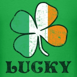 Lucky Irish Flag T-Shirts - Men's T-Shirt
