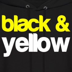 Black and Yellow Wiz Khalifa Design Hoodies