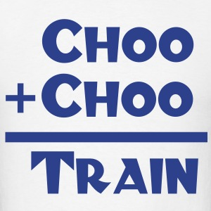 Choo + Choo = Train Design T-Shirts - Men's T-Shirt