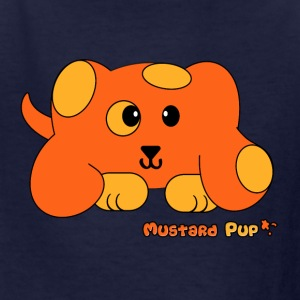 Mustard Pup Pudgie Pet - Designs by Melody Kids' Shirts - Kids' T-Shirt