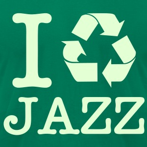 I Recycle Jazz / Glow in the Dark T-Shirts - Men's T-Shirt by American Apparel