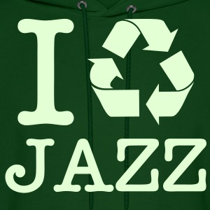 I Recycle Jazz / Glow in the Dark Hoodies - Men's Hoodie
