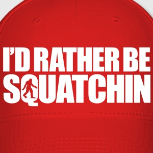 I'd Rather Be Squatchin' (White) - Hat - Baseball Cap