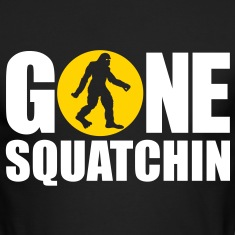 Gone Squatchin' Spotlight (White & Yellow) - Long Sleeve