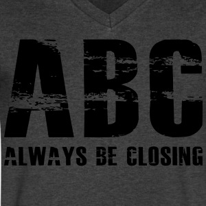 The Art of Selling | Always Be Closing T-Shirt - Men's V-Neck T-Shirt by Canvas