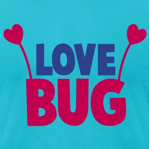 love bug cute with heart shaped antennae T-Shirts - Men's T-Shirt by American Apparel
