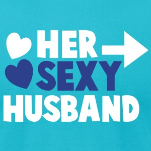 Her Sexy Husband right arrow T-Shirts - Men's T-Shirt by American Apparel