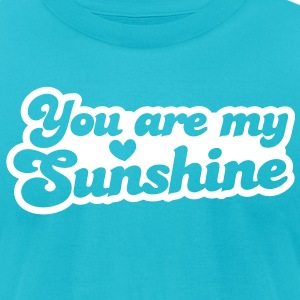 you are my sunshine with love heart T-Shirts - Men's T-Shirt by American Apparel