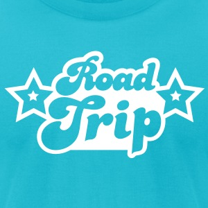funky cool road trip design with stars T-Shirts - Men's T-Shirt by American Apparel