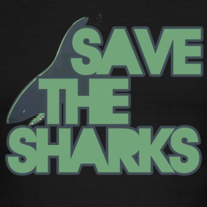 Save the Sharks - Men's Ringer T-Shirt