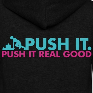 Push It, Push It Real Good - AMRAP Style Zip Hoodies & Jackets - Unisex Fleece Zip Hoodie by American Apparel