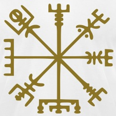 Gold Vegvísir (Viking Compass)