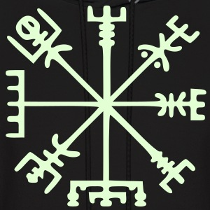 Vegvísir (Viking Compass) / Glow in the Dark - Men's Hoodie