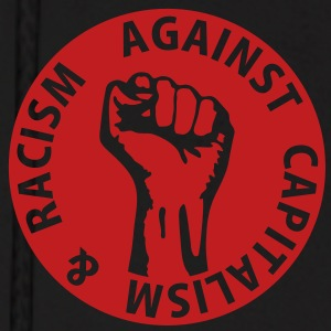 1 color - against capitalism & racism Working Clas Hoodies - Men's Hoodie
