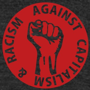 1 color - against capitalism & racism Working Clas T-Shirts - Unisex Tri-Blend T-Shirt by American Apparel