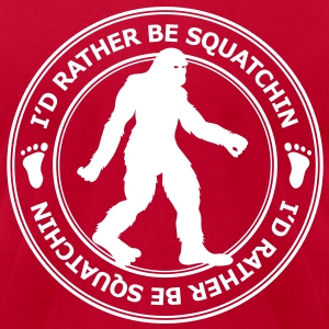 I'd Rather Be Squatchin' Patch (White) - Men's - Men's T-Shirt by American Apparel