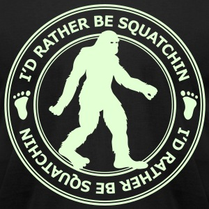 I'd Rather Be Squatchin' Patch (Glow In The Dark) - Men's - Men's T-Shirt by American Apparel
