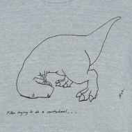 Design ~ T-Rex Cartwheel (Am Apparel)