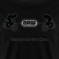 Design ~ Men's Stealth Black Now Bikes shirt