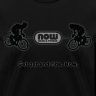 Design ~ Women's Stealth Black Now Bikes shirt