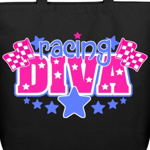 Racing Diva Tote Bags - Eco-Friendly Cotton Tote