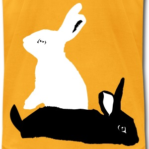 rabbits - Men's T-Shirt by American Apparel