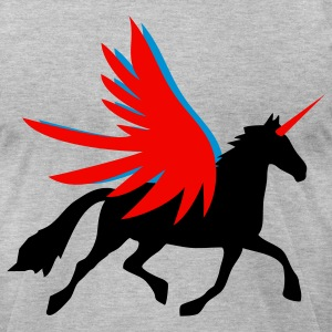 unicorn flying horse - Men's T-Shirt by American Apparel