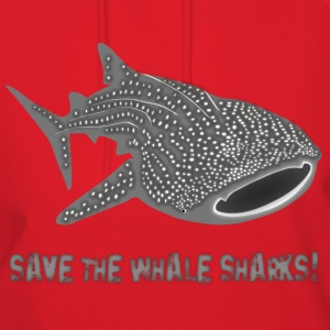 save the whale shark sharks fish dive diver diving endangered species Hoodies - Women's Hoodie