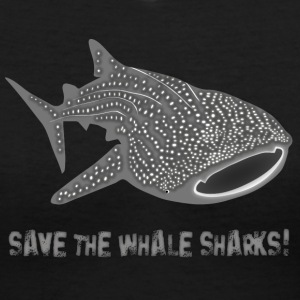 save the whale shark sharks fish dive diver diving endangered species Women's T-Shirts - Women's V-Neck T-Shirt