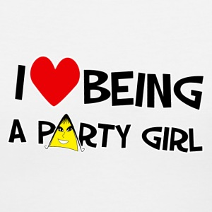 I Love Being A Party Girl. TM  Women's Shirt - Women's V-Neck T-Shirt