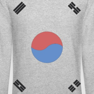 South Korea Flag Long Sleeve Shirts - Crewneck Sweatshirt