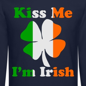 Kiss Me I'm Irish Long Sleeve T-Shirt - Crewneck Sweatshirt