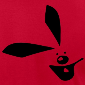 Smiley Bunny Men's T-Shirt by American Apparel - Men's T-Shirt by American Apparel