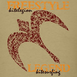 kitelegion_freestyle_legend_back1 T-Shirts - Men's T-Shirt