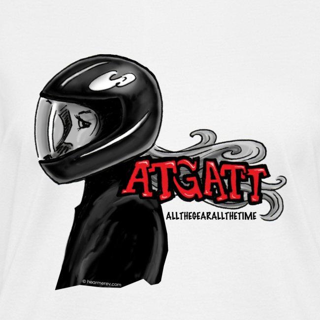 ATGATT on White V-Neck