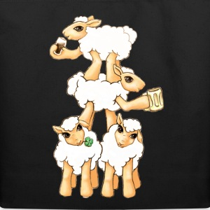 Sheeps celebrating Patrick's Day Bags  - Eco-Friendly Cotton Tote