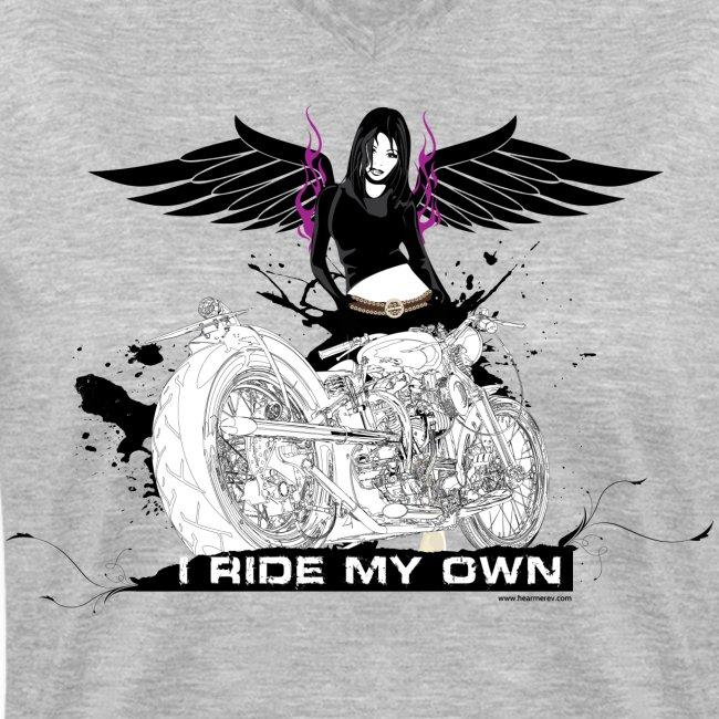 I Ride My Own on Grey V-Neck