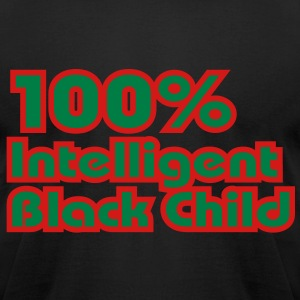100% Intelligent Black Child T-Shirts - Men's T-Shirt by American Apparel