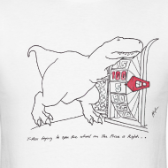 Design ~ T-Rex Spinning The Wheel (Basic Tee)