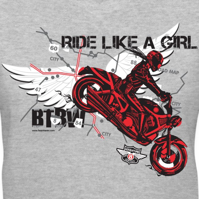 Ride Like a Girl on Grey