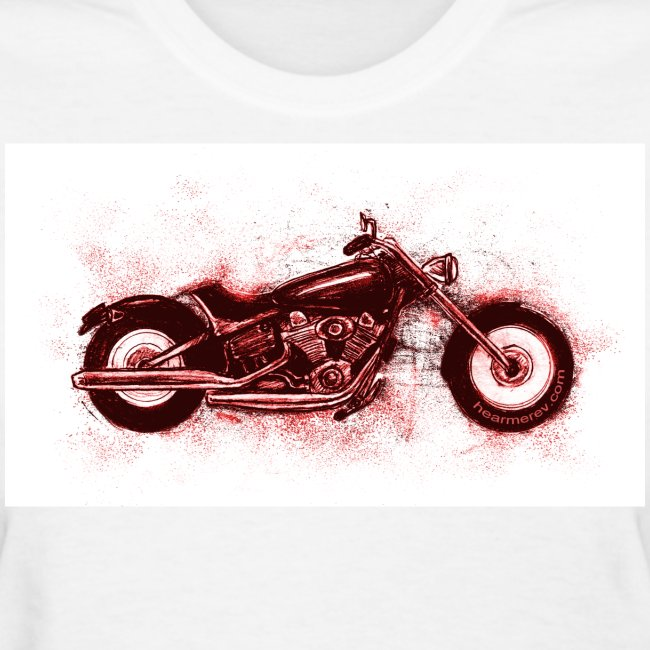 Red Harley Sketch on White