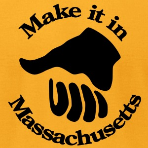 Make it in Massachusetts T-Shirts - Men's T-Shirt by American Apparel