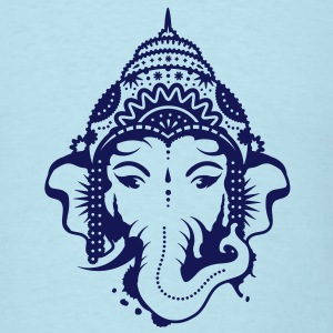 A portrait of the elephant god Ganesha T-Shirts - Men's T-Shirt