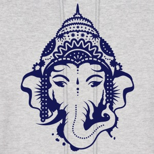 A portrait of the elephant god Ganesha Hoodies - Men's Hoodie