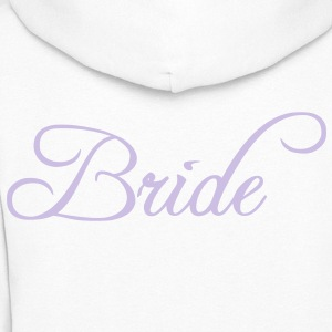 Fun Silver Grey Bride Text Word Graphic Design for Bachelor Parties, Hen Party, Stag and Does, Bridal Party and Wedding Showers TShirts Hoodies - Women's Hoodie