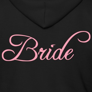 Fun Pink Bride Text Elegant Word Graphic Design for Bachelor Parties, Hen Party, Stag and Does, Bridal Party and Wedding Showers TShirts Zip Hoodies/Jackets - Men's Zip Hoodie