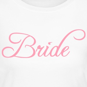 Fun Pink Bride Text Elegant Word Graphic Design for Bachelor Parties, Hen Party, Stag and Does, Bridal Party and Wedding Showers TShirts Long Sleeve Shirts - Women's Long Sleeve Jersey T-Shirt