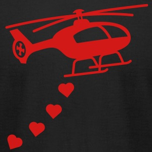 Army Helicopter Bombing Love T-Shirts - Men's T-Shirt by American Apparel